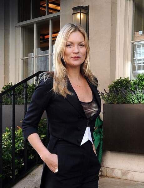 Visage en losange : le dégradé mi-long de Kate Moss