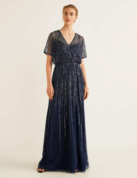 Robe chic : tulle brodé