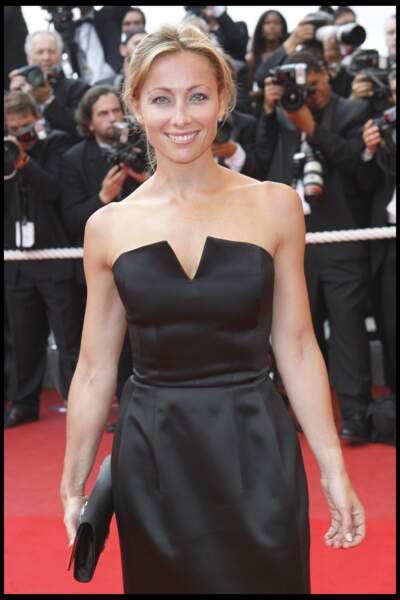 Anne-Sophie Lapix au 62ème festival de Cannes en mai 2009.