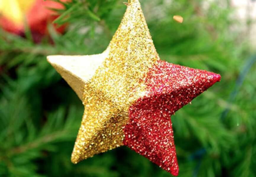 Une étoile pailletée