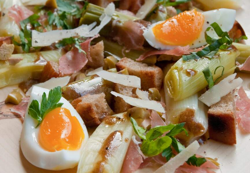 Salade de poireaux à la milanaise