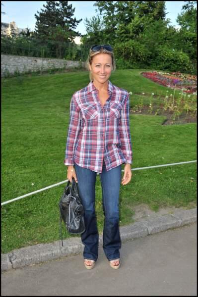 Anne-Sophie Lapix à l'anniversaire des 150 ans du jardin d'acclimatation à Paris en 2010.