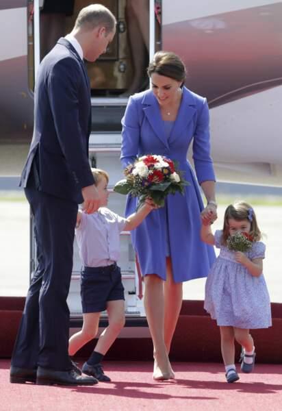 William, George, Kate et Charlotte