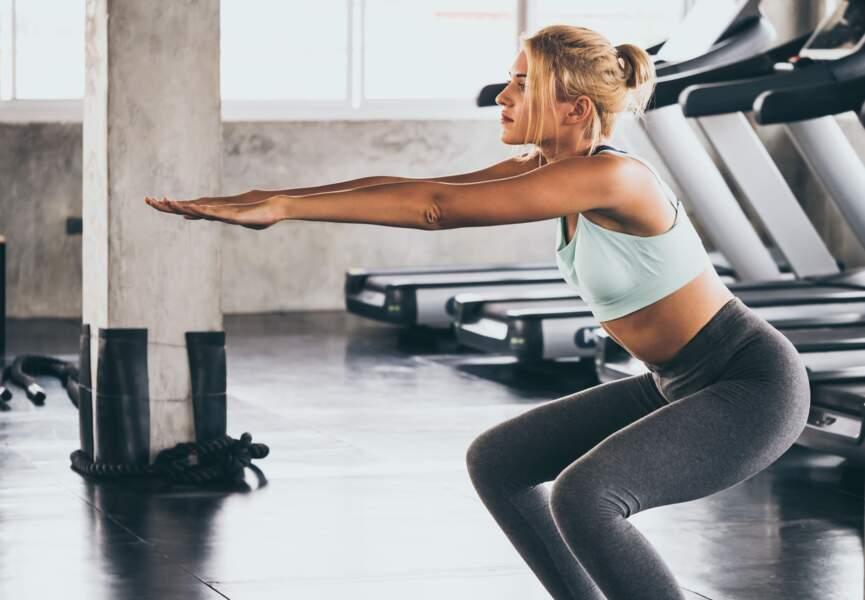Les squats : pour muscler fessier et cuisses