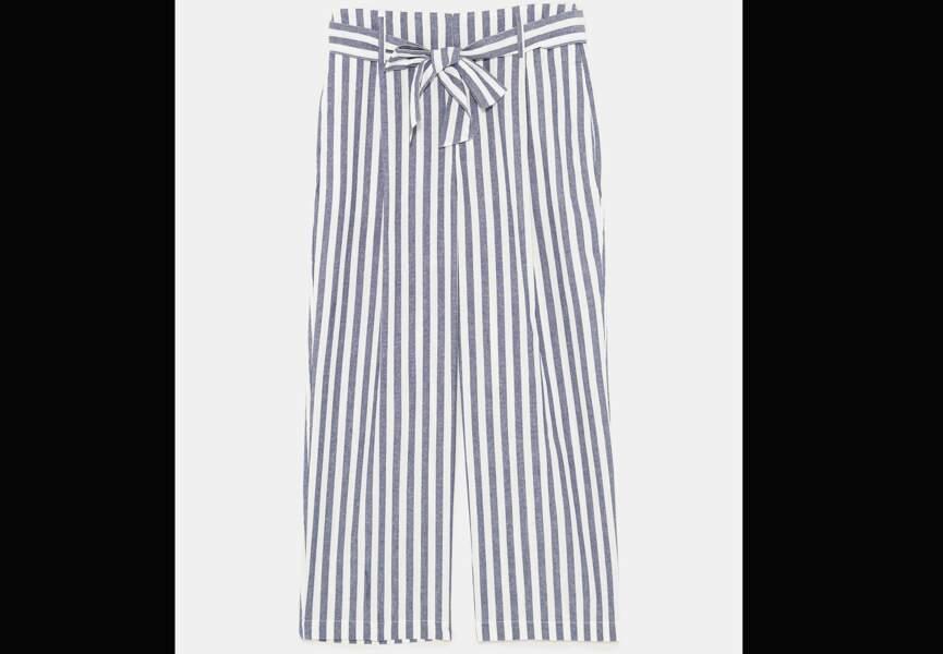 Nouveautés Zara: le pantalon rayé