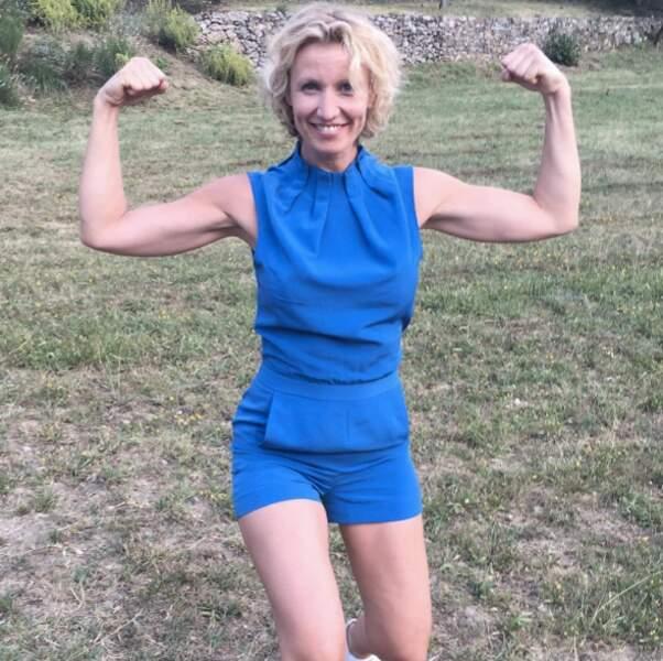 Alexandra Lamy voit la vie en bleu