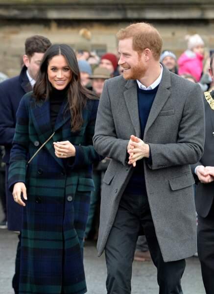 Le prince Harry et Meghan Markle à Edimbourg en février 2018