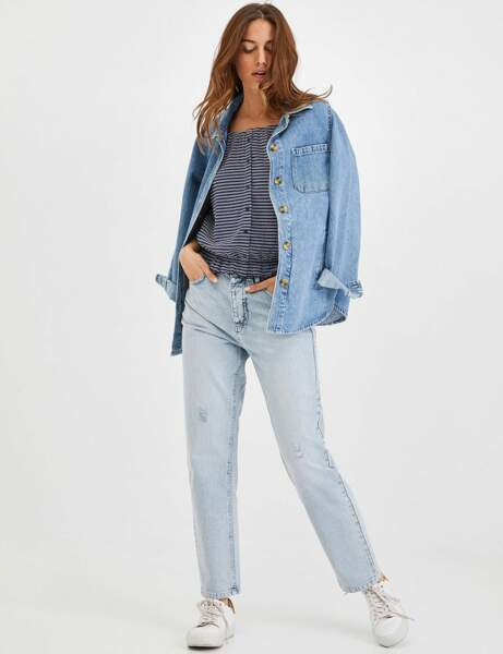Total look jean : la tenue relax