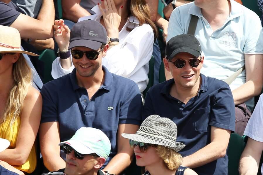François Roelants et Marc-Olivier Fogiel à Roland Garros