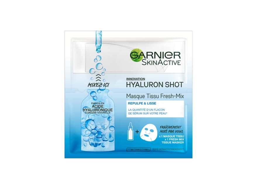 Le Masque Tissu Fresh Mix, Hyaluron Shot Garnier