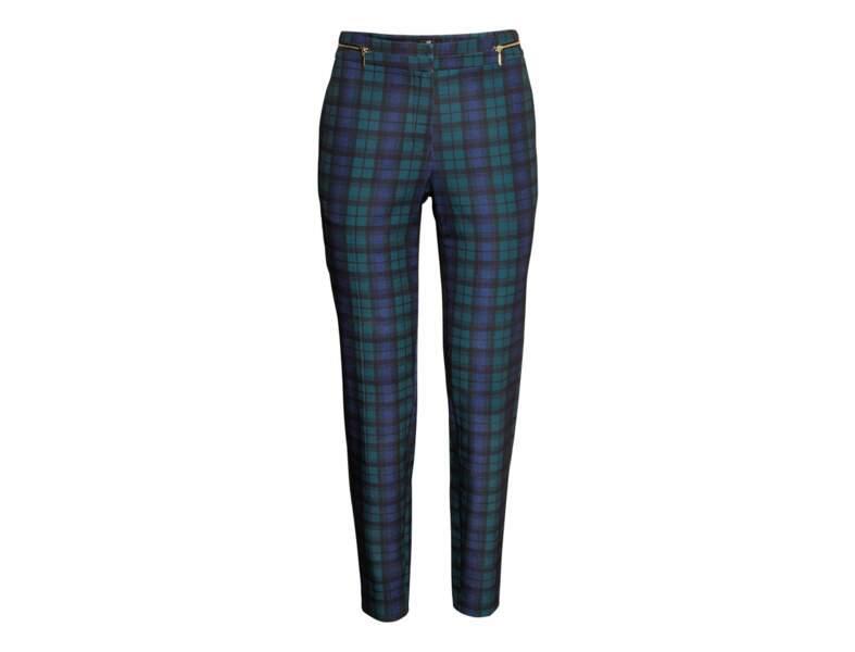 Le pantalon tartan par H&M