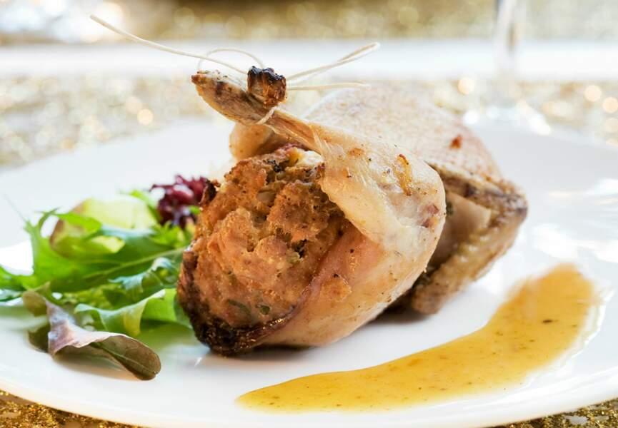 Cailles au foie gras