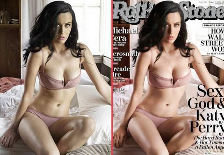 Katy Perry, le grain de peau visiblement affiné