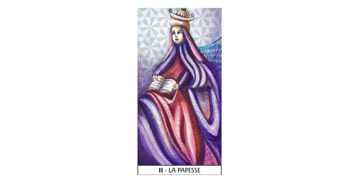 Lame 2 du Tarot des Mages : La Papesse