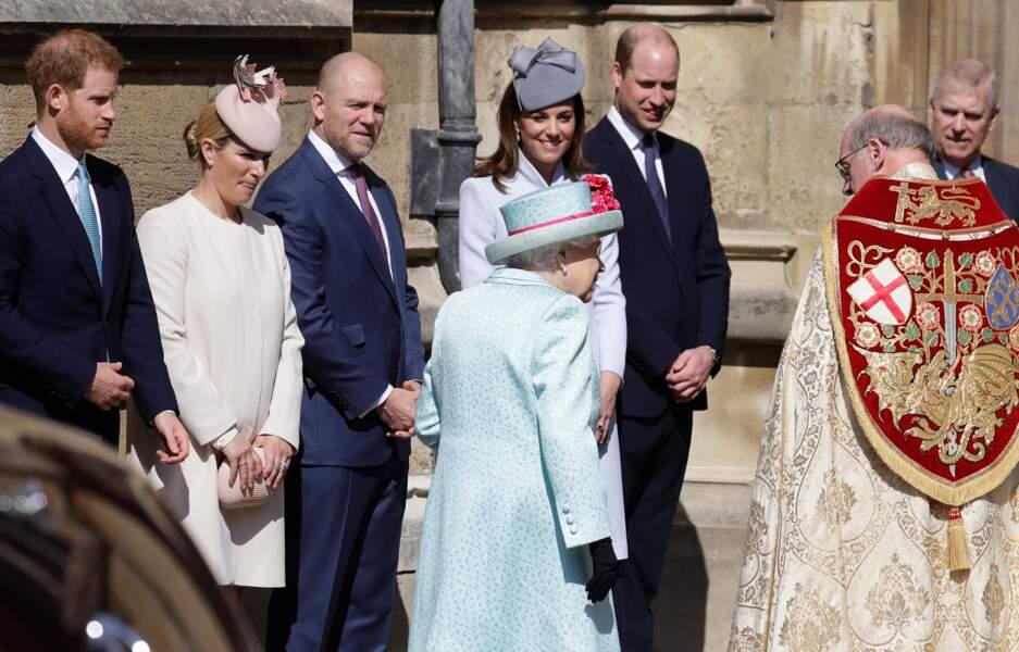 Comme lors de la messe de Pâques à la Chapelle du château de Windsor...