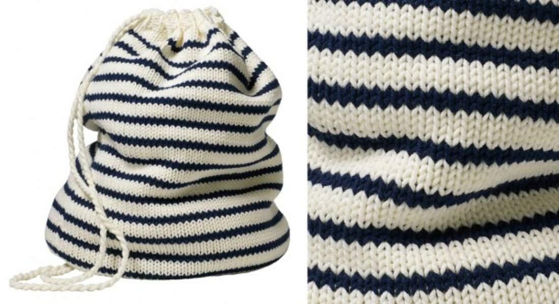 Le sac de marin en tricot