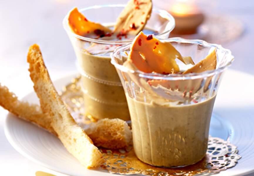 Crème de lentille au foie gras