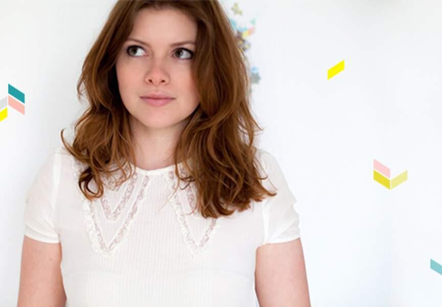 Le portrait d'Aline du blog My Little Fabric