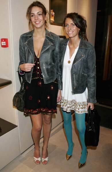 Rose Hanbury et sa soeur Marina Hanbury assistent à une soirée Sergio Tacchini à Londres le 4 avril 2007.