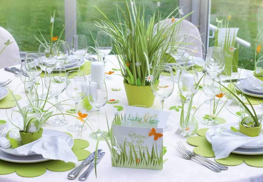 Une table bucolique pour Pâques