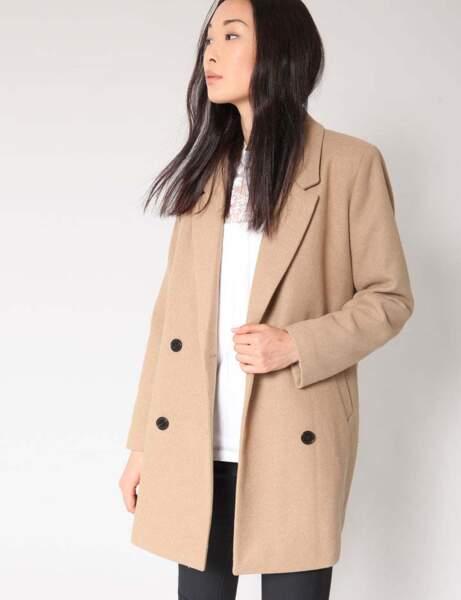 Le manteau beige