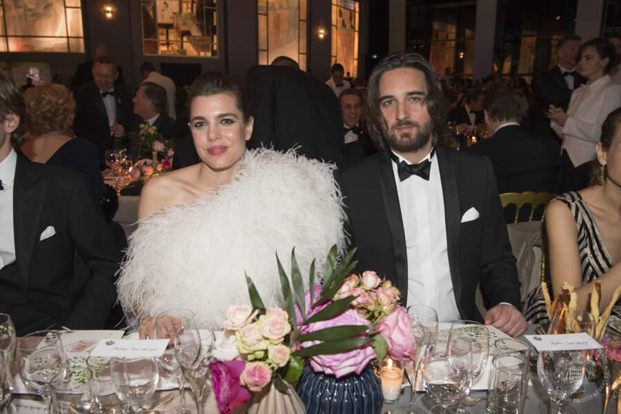 Charlotte Casiraghi et Dimitri Rassam lors du dîner organisé la Salle des Etoiles du Sporting de Monte-Carlo.