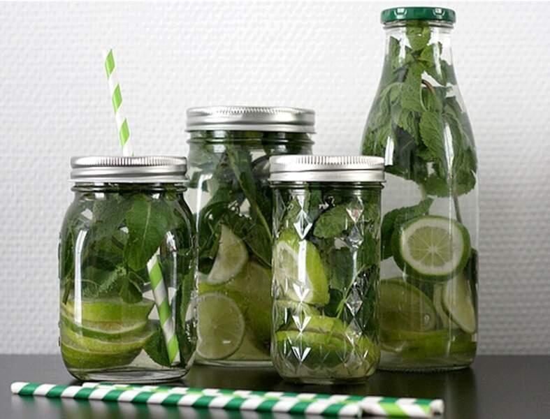 Au citron vert et à la menthe