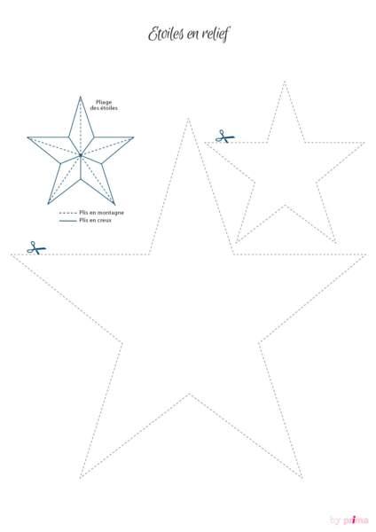 Gabarit étoiles en relief