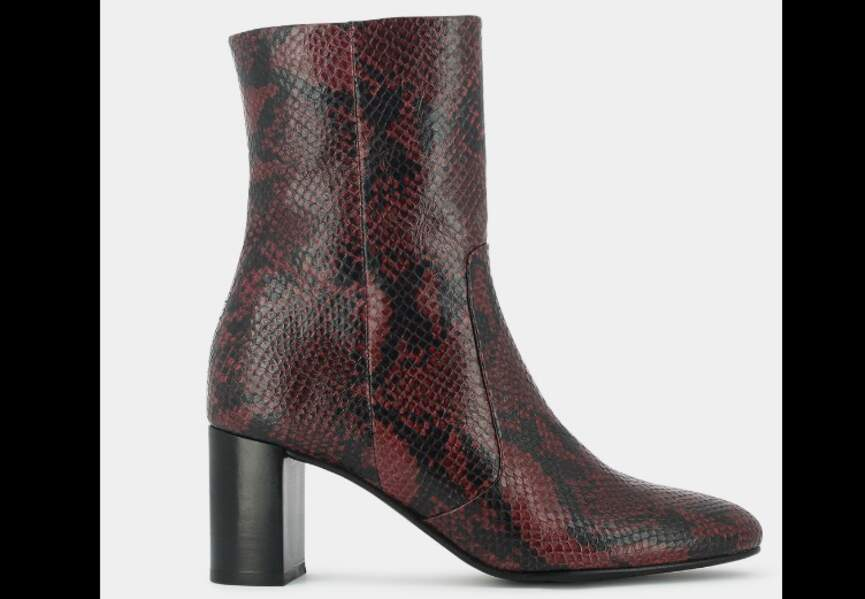 Tendance python : bottines