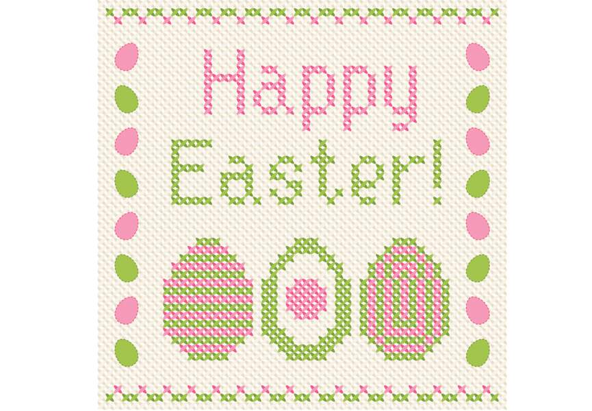 Broderie Happy Easter