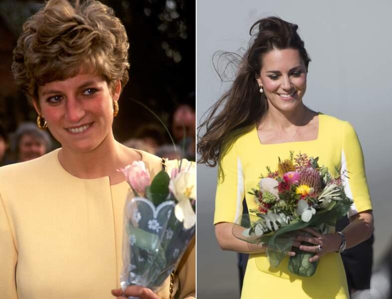 ...sourire presque timide en robe jaune canari...