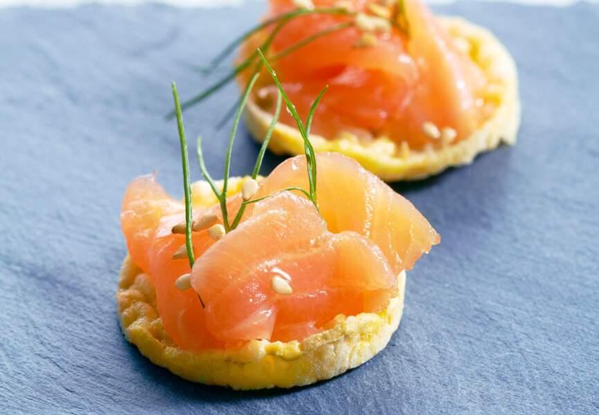 Mini-tartelettes au saumon