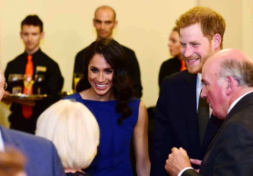 Meghan Markle et le prince Harry le 6 septembre à Londres.