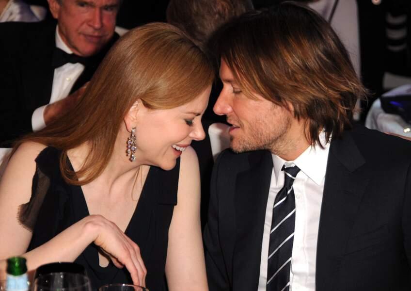 Nicole Kidman et Keith Urban au dîner des Critics'Choice Movie Awards à Los Angeles en 2011.