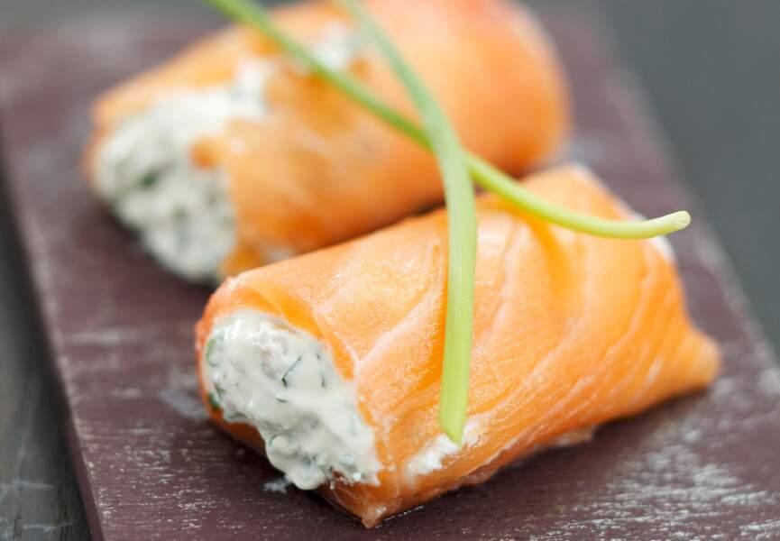 Nems au saumon et à la ricotta