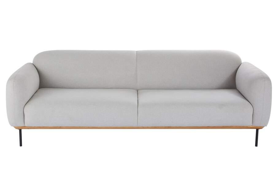 Canapé épuré gris clair