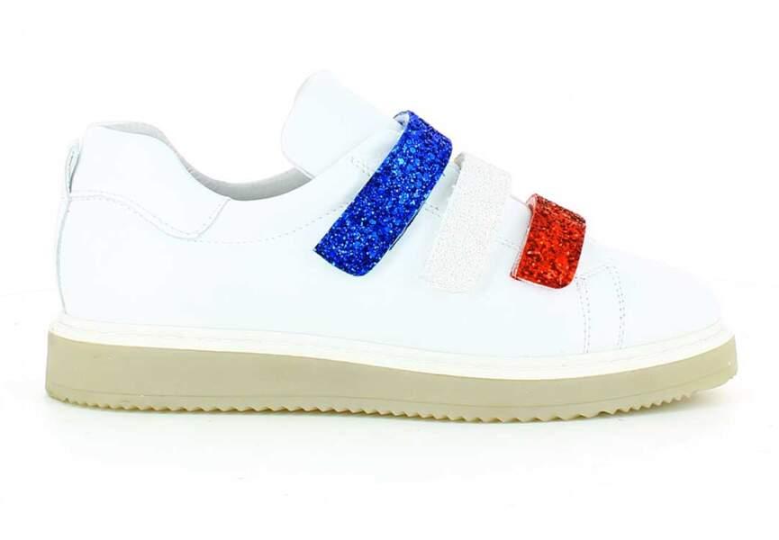Bleu blanc rouge: les baskets pailletées