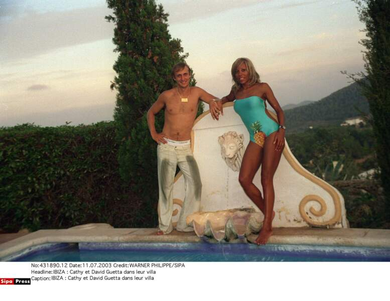 David et Cathy Guetta en 2003
