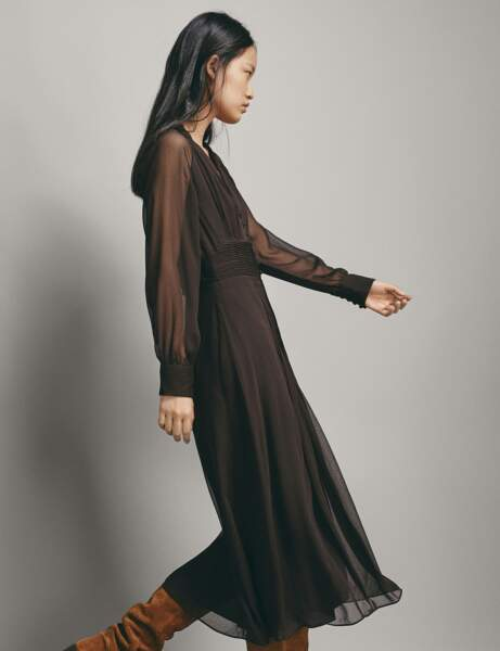 Robe chic: plissée