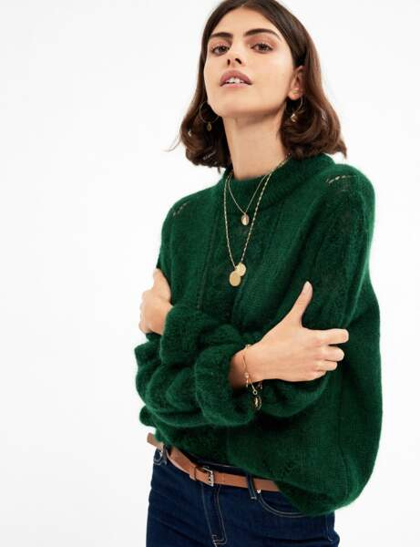 Col montant : le pull chaud