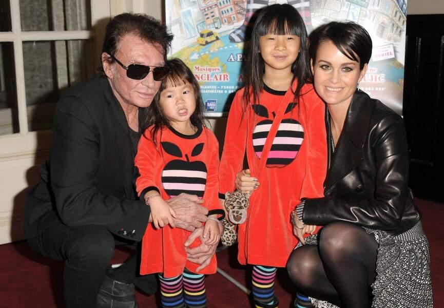 Johnny et Laeticia Hallyday : deux filles adoptées