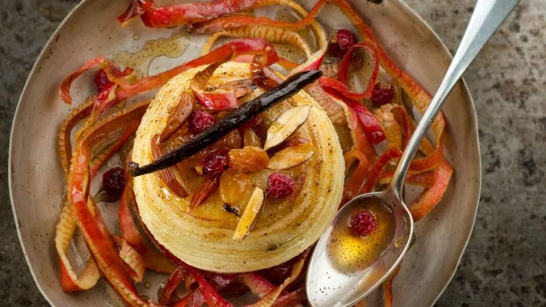 Pomme au four et sirop d'érable