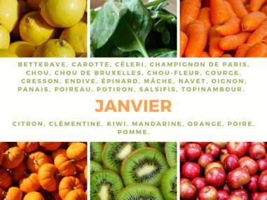 Notre calendrier des fruits & légumes de saison