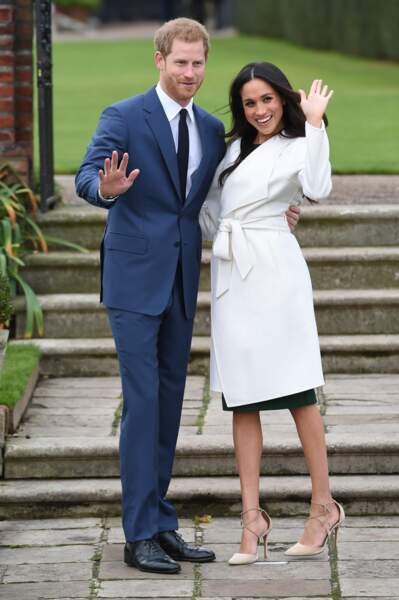 Le prince Harry et Meghan Markle annoncent leurs fiançailles au palais de Kensington