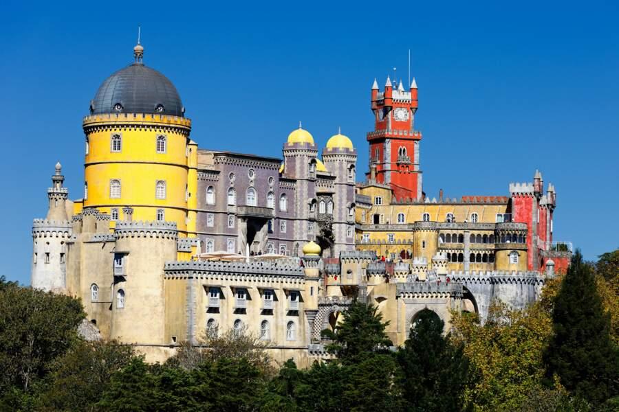 Magnifique vue sur le château de Pana à Sintra Portugal