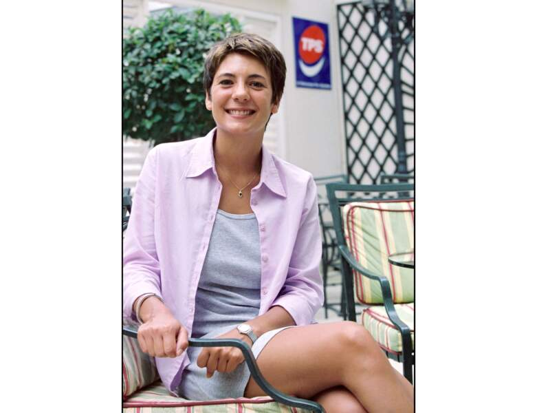Estelle Denis a porté la coupe à la garçonne en 2001, elle avait alors 25 ans