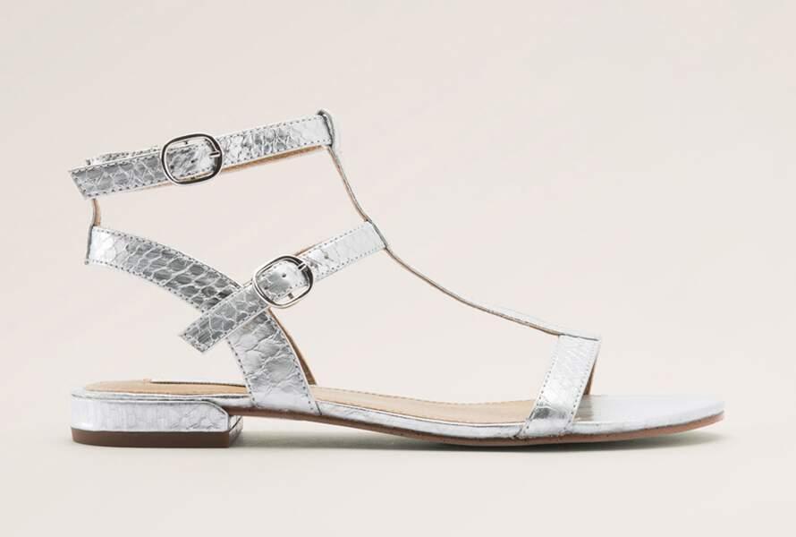 Sandales métallisées