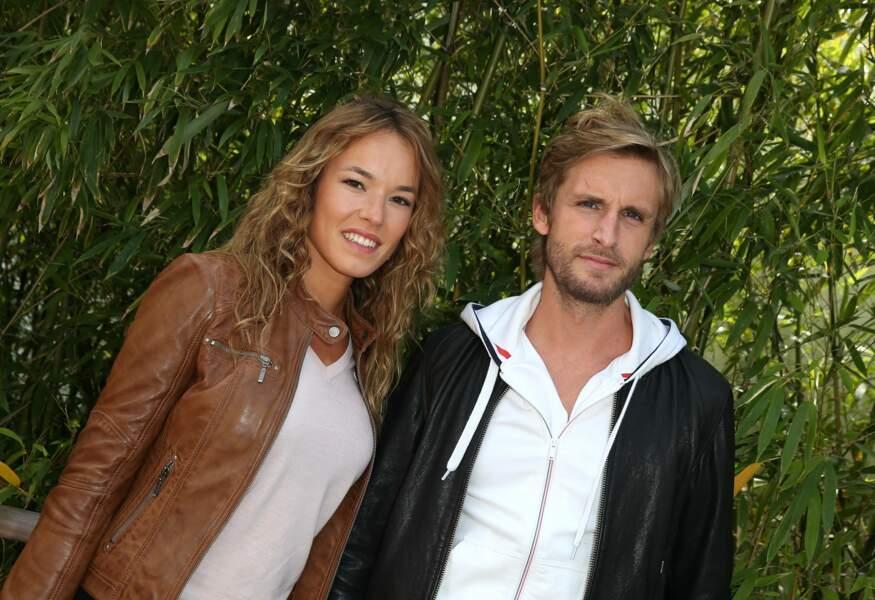 Philippe Lacheau et Elodie Fontan au village de Roland Garros le 3 juin 2015.