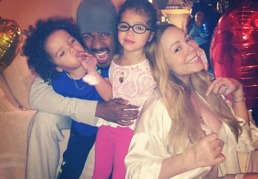 Mariah Carey et sa petite famille