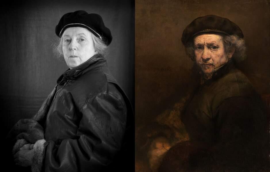 Autoportrait, de Rembrandt
